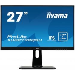 """27"""" LCD iiyama XUB2792QSU-B1 - IPS,5ms, 350cd/m2, 2560x1440,DVI,HDMI,DP,USB,výšk.nast.,repro"""