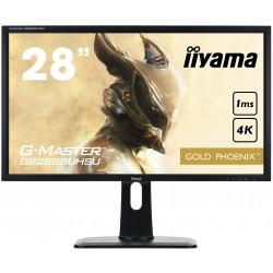"""28"""" LCD iiyama G-Master GB2888UHSU-B1 - 1ms, 300cd/m2, 4K, VGA, DP, 3xHDMI, USB, repro, výšk.nastv."""