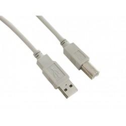 4World Kabel USB 2.0 AM-BM 5.0m Gray