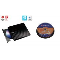BUNDLE ASUS DRW-08D2S-U BLACK+ Verb. DVD-R 10cake