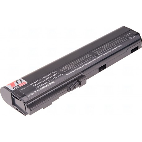 Baterie T6 power HP EliteBook 2560p, 2570p, 6cell, 5200mAh