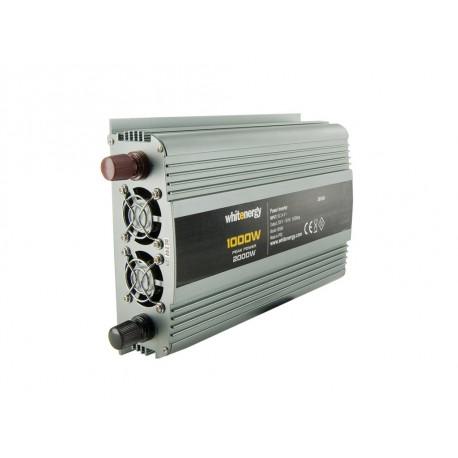 WE Měnič napětí DC/AC 24V / 230V, 1000W, 2 zásuvky