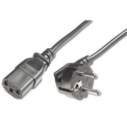 PremiumCord Kabel síťový 230V k počítači 1m
