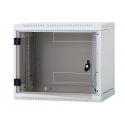 Nástěnný rack RUA 18U/400mm odn.boč+skl.dv.