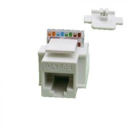 Keystone UTP Cat5e samozářezový bílý