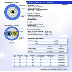 12vl. 09/125 09/125um kabel gelový UNIV LSOH CLT