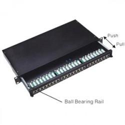 """Patch panel Cat5e 24p.1U,STP,19"""" výsuvný"""
