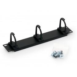 """10"""" vyvazovací panel černý 1U 3x plast"""