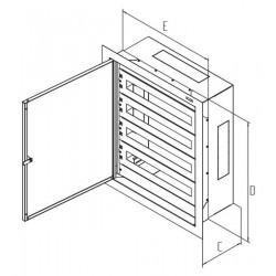 Rozvaděč instalační podomítkový 1035x650x250 plech