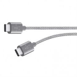 BELKIN MIXIT kabel USB-C to USB-C,1.8m, šedý