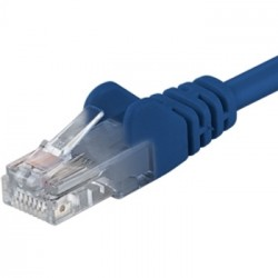 PremiumCord Patch kabel UTP RJ45-RJ45 CAT6 1m modrá