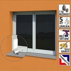"""Anténní držák malý na plastové okno """"L"""", délka 17,5 cm, výška 25 cm, d20mm"""