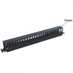 """19"""" vyvazovací panel 1U jednostr.plast.lišta (BK)"""