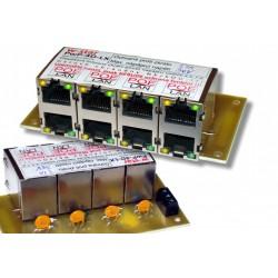 4portový napáj. panel s ochranou proti přepětí 60V