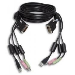 KVM kabel, 1,8 m, USB/DVI-I/A