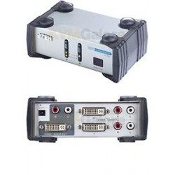 ATEN DVI přepínač 2 PC - 1 DVI monitor+2xcinch+DO