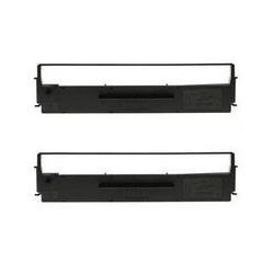 SIDM Black Ribbon Cartridge for LQ-300/+/+II/570/+/580/8xx, Dualpack