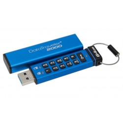64GB Kingston USB 3.0 DT2000 HW šifrování, keypad