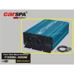Měnič napětí Carspa P3000U-24 24V/230V+USB 3000W, čistá sinusovka