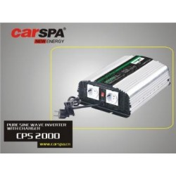 Měnič napětí Carspa CPS2000 12V/230V 2000W, čistá sinus, s nabíječkou 12V/15A a funkcí UPS