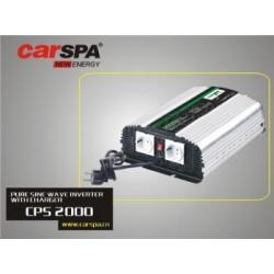 Měnič napětí Carspa CPS2000 24V/230V 2000W, čistá sinus, s nabíječkou 24V/8A a funkcí UPS