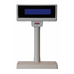 LCD zák.displej FL-2024MB 2x20 RS232, modré pozadí