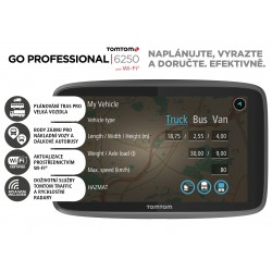 TomTom GO Professional 6250 EU, Wi-Fi, LIFETIME mapy