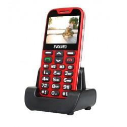 EVOLVEO EasyPhone XD, telefon pro seniory, červený
