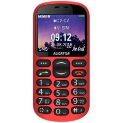 ALIGATOR A880 GPS Senior červený +st. nab.