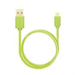 AXAGON HQ Kabel Micro USB, 2A, zelený, 2 m
