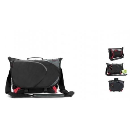 ASCOPA messenger bag, black-red