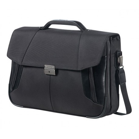 "Samsonite XBR BRIEFCASE 2 GUSSETS 15.6"" Black"