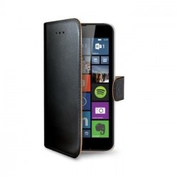 Pouzdro typu kniha Wallet pro Lumia 640, černé