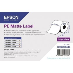 PE Matte Label - Continuous Roll: 51mm x 29m