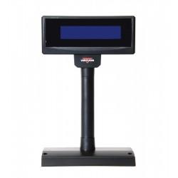 LCD zák.disp.FL-2024LB 2x20, USB, modré poz,černý